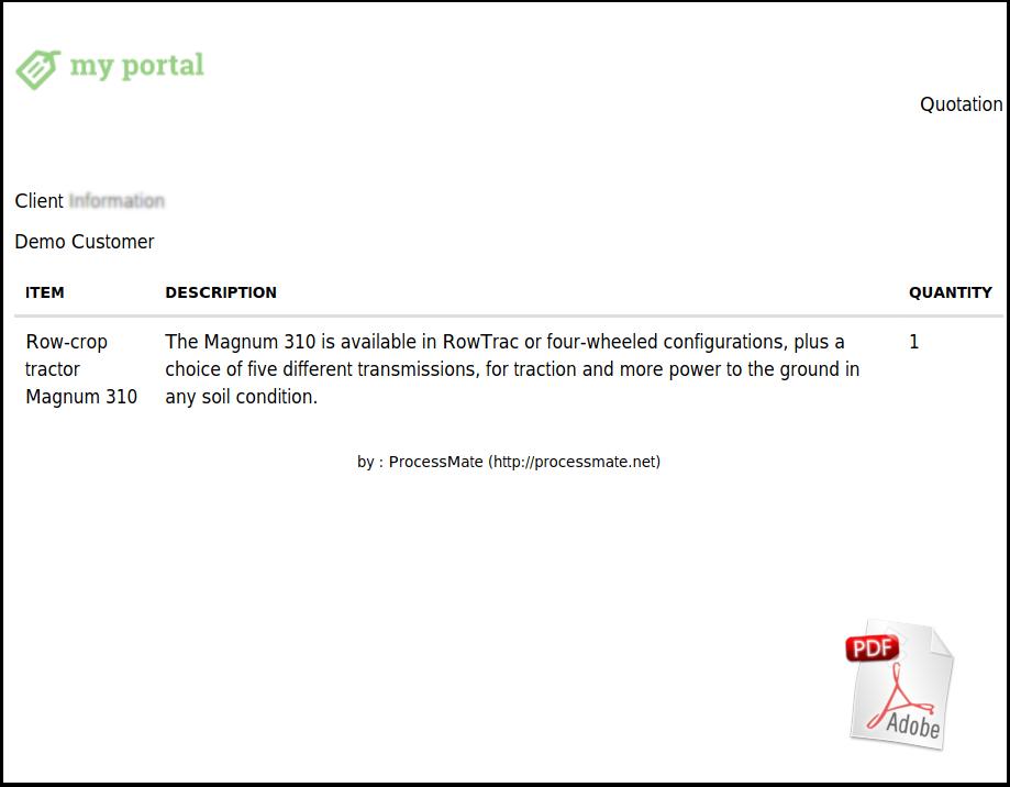 Quotation sample PDF